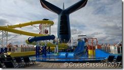 Carnival Imagination waterslide
