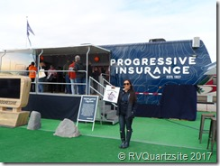 Progressive Insurance Quartzsite booth