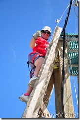 Me climbing the tower