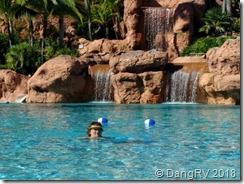 Fun in the beautiful pool