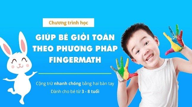 Review khóa học bé vui học toán theo phương pháp FingerMath