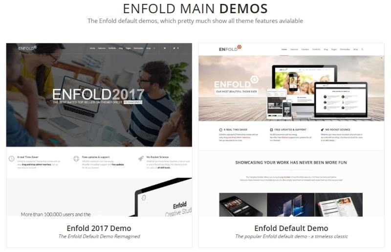 Cài đặt Enfold demo nhanh chóng