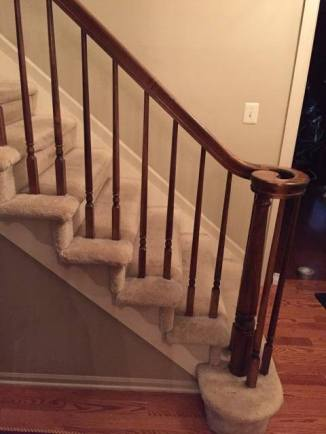 Before: Carpeted Stairs. Meh.