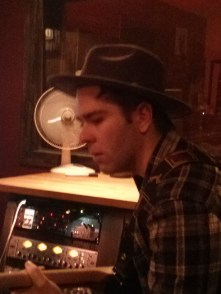 Dan is getting into the twangy spirit with his own farmer hat. He can pull it off cause he's from Elmira.