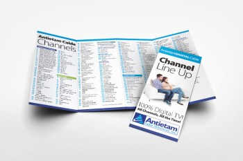 Antietam Cable's channel guide design, as part of the team at Icon Graphics.