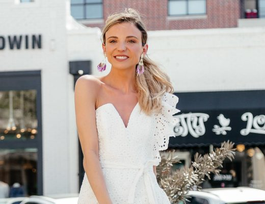 dani austin spring white dresses bardot wedding bridal showers