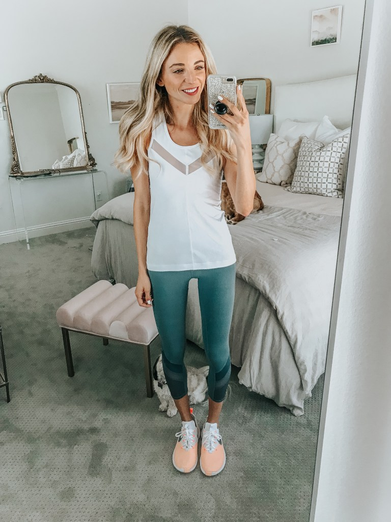 zella white tank top