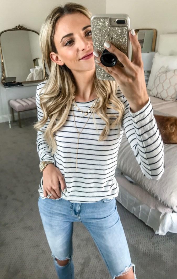 nordstrom sale caslon stripe shirt