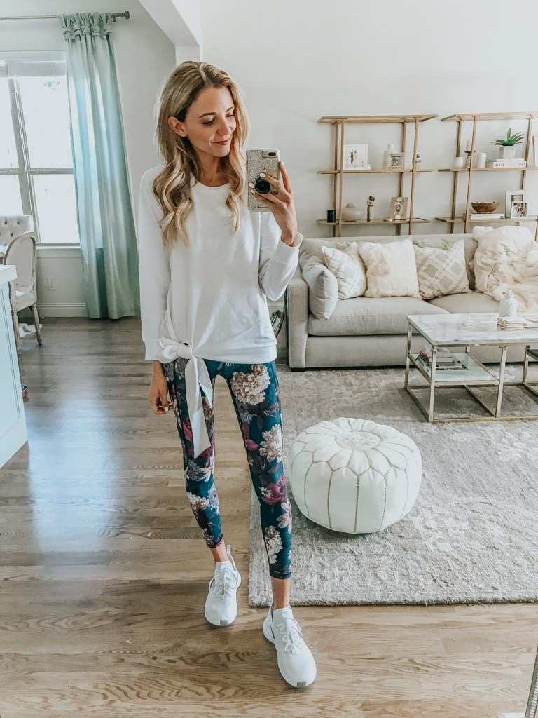 nordstrom athleisure outfit caslon top
