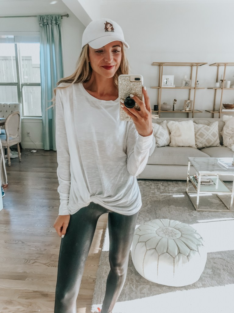caslon top athleisure outfit