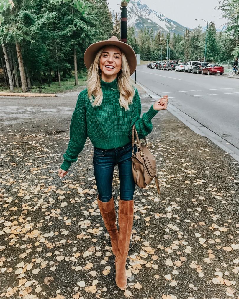 green revolve sweater banff canada
