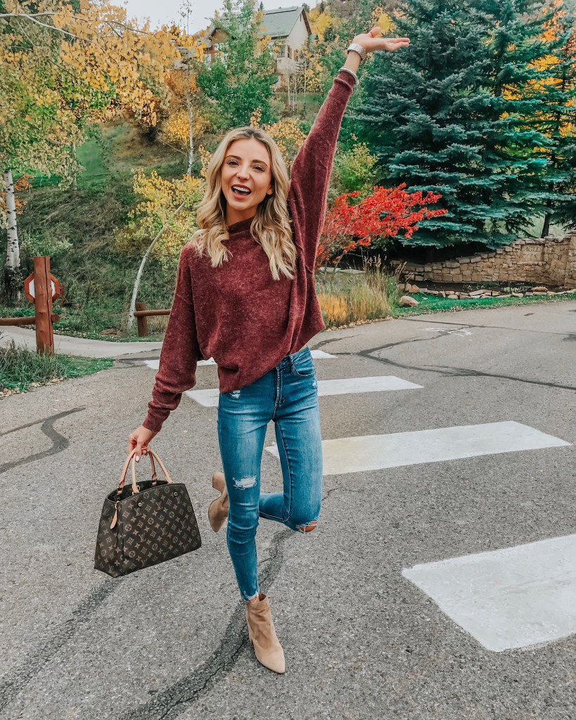 free people sweater outfit