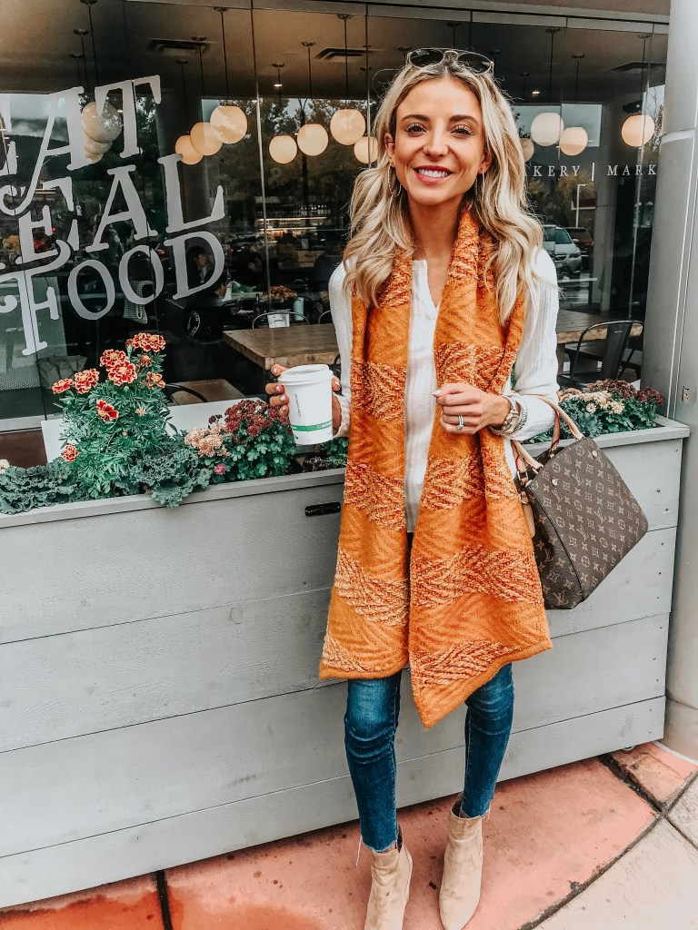 rebecca minkoff orange scarf