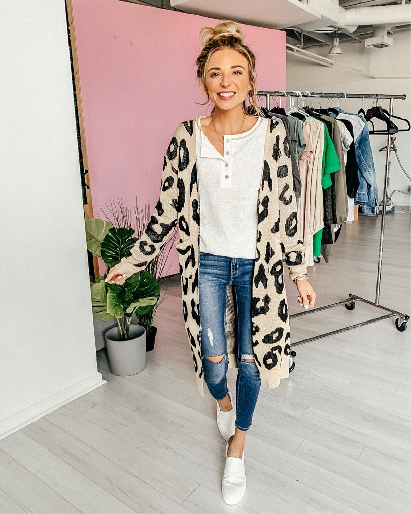amazon fashion cheetah print cardigan
