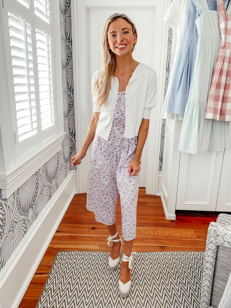 lilac jumpsuit gal meets glam