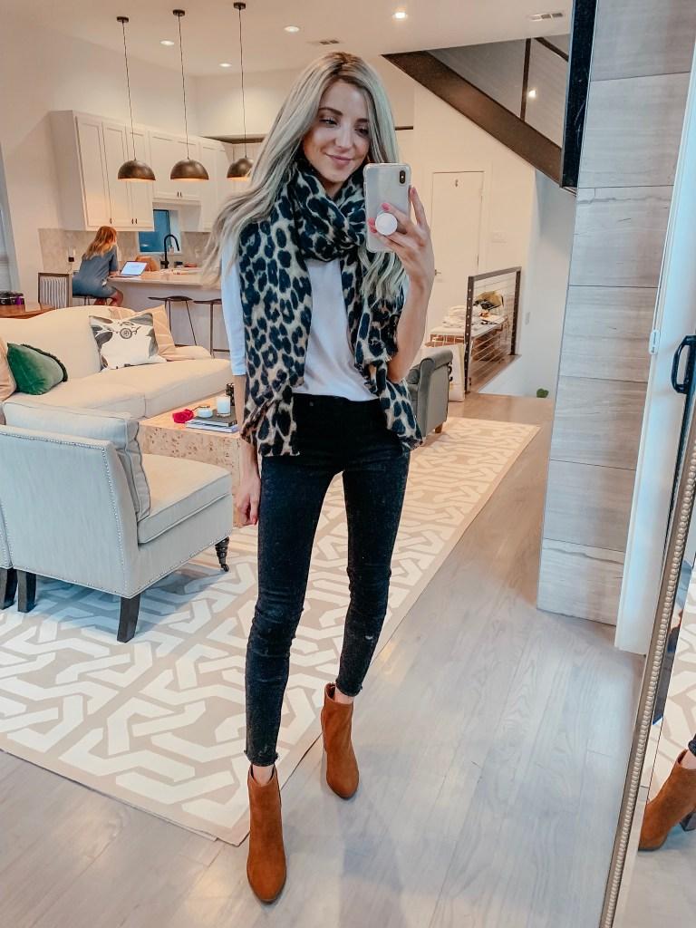 bp  leopard print scarf