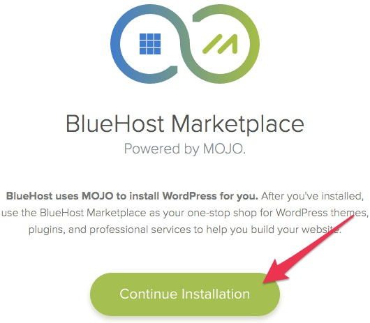 bluehost-mojo-wordpress-install