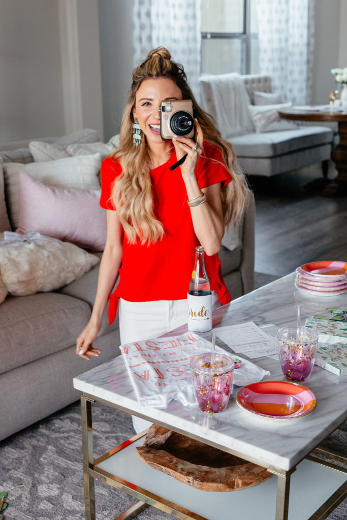 Dani Austin Bachelorette Party Red Madewell Shirt-35