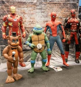 Geekmania Gloucester models of superheroes