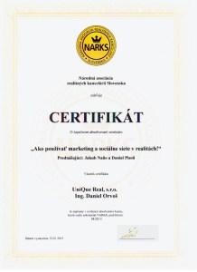 Certifikát, Ako používať marketing a sociálne siete v realitách!