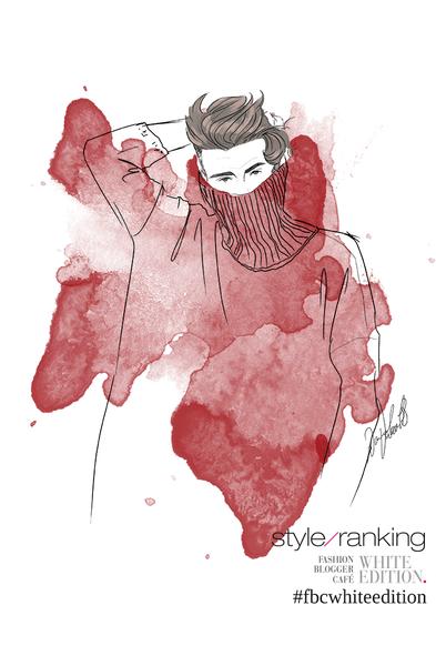 Live-drawing Fashion Illustration von Blogger be.xcol.