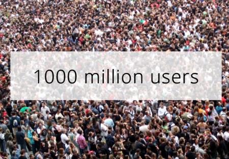 1000 million users