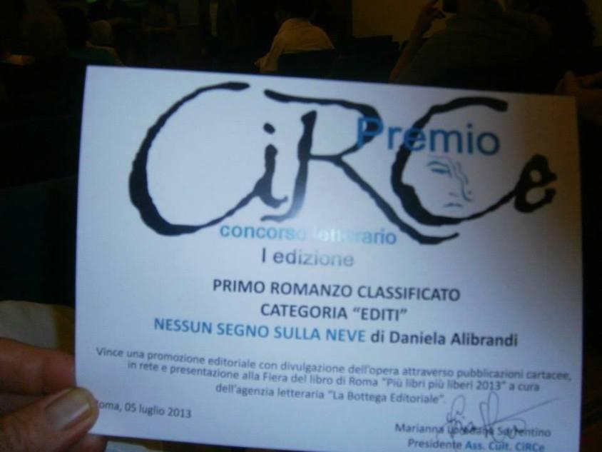 Nessun Segno sulla Neve riceve un ambito premio letterario, grazie al quale verrà presentato all Fiera deel Libro di Roma Piùlibripiùliberi 2013