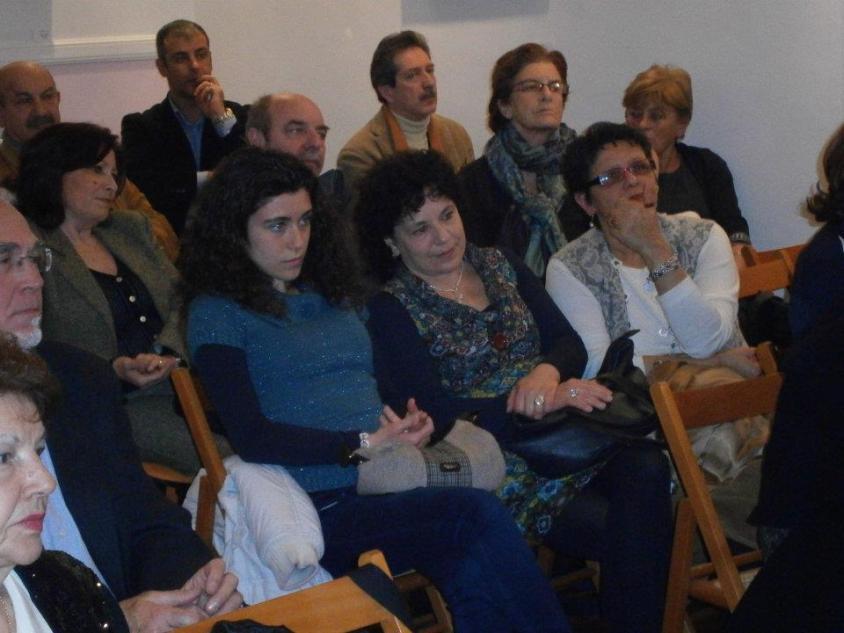 Il pubblico della presentazione di Roma, presso la Associazione Bell'Italia '88.