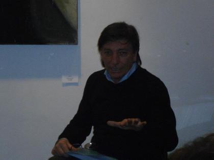L'attore Avio Focolari, che ha letto alcune pagine del mio libro Nessun Segno sulla Neve.