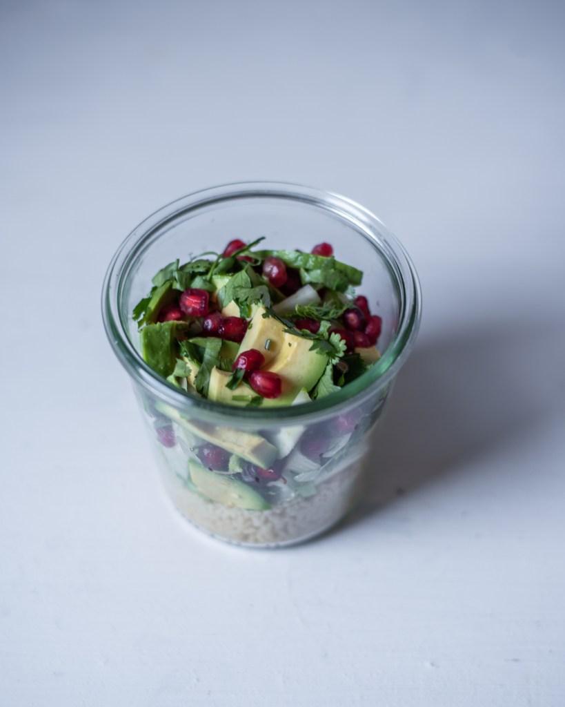 Overnight Couscous Rezept, Lunch im Glas für unterwegs