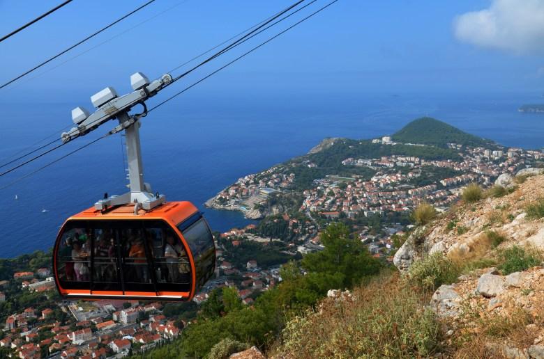 teleférico - dubrovnik - croácia - pontos - turísticos