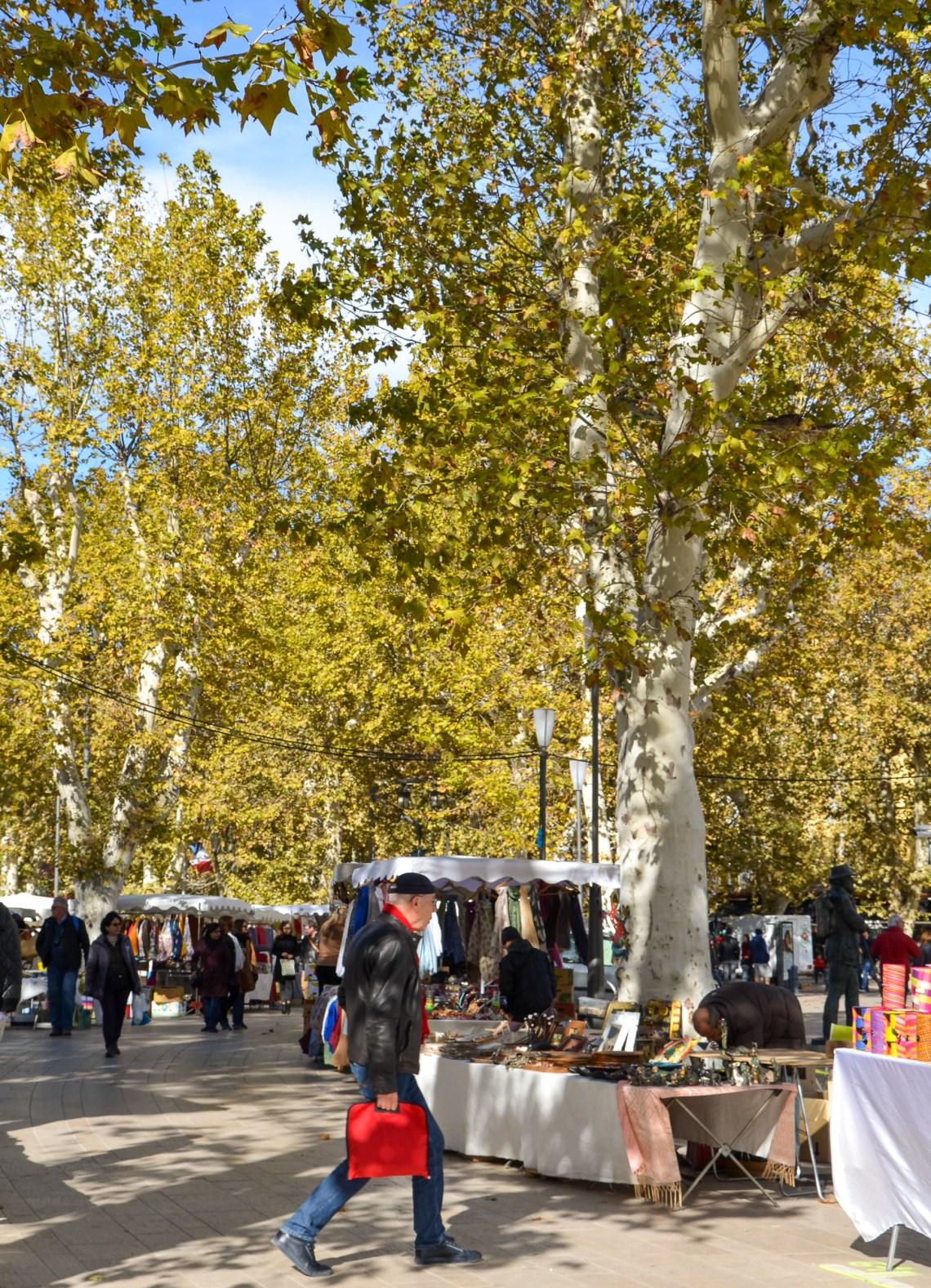 mercados de rua - aix en provence - frança - provence