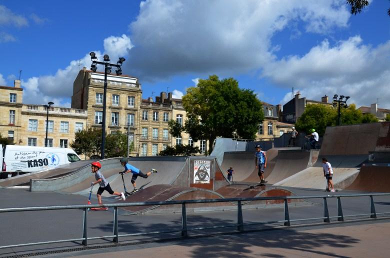 pista de skate - bordéus - bordeaux - frança - pontos turísticos