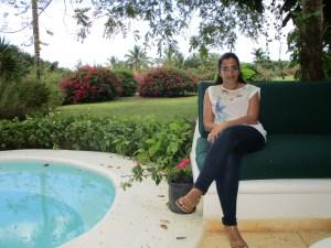 donna che lavora in una Ong in repubblica dominicana