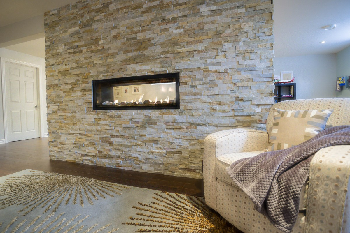Fireplace with Cultured Stone