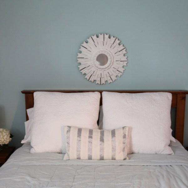 Girls Bedroom painted Benjamin Moore Birds Egg