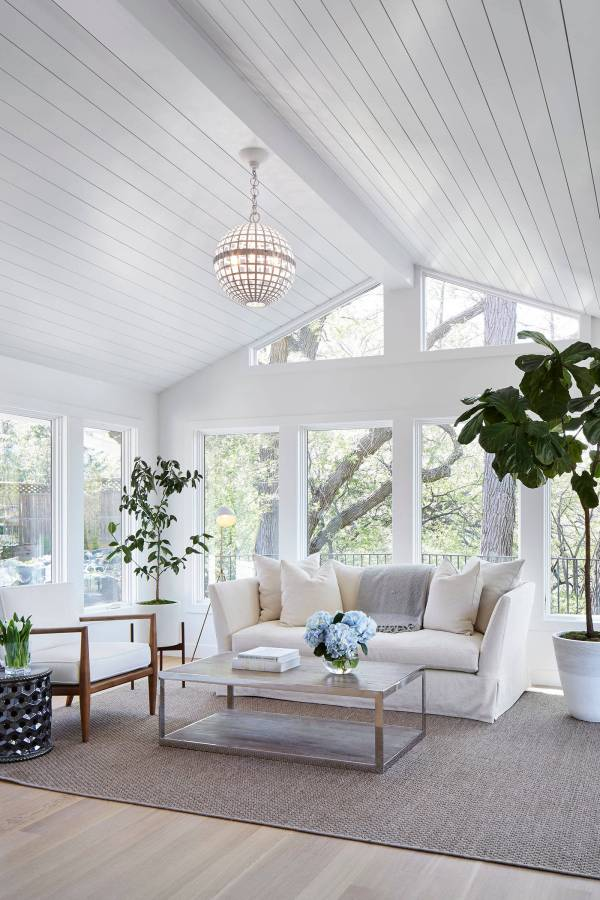 Sunroom with Shiplap
