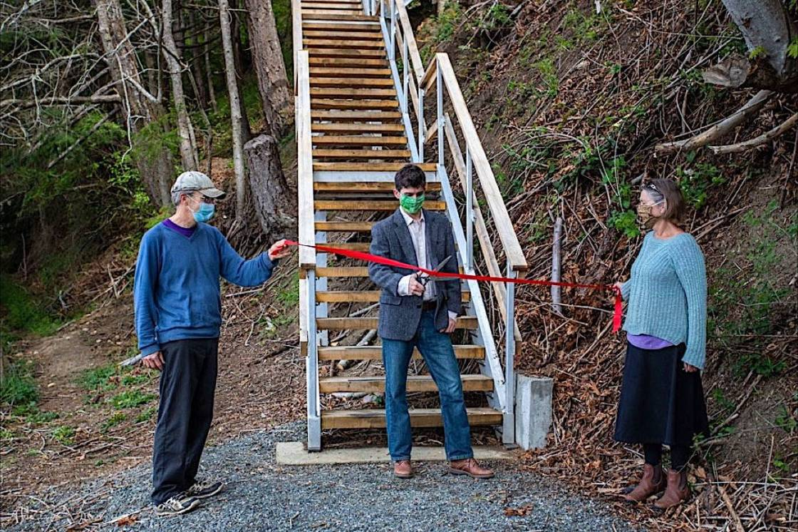 New Denman Island Ferry Stairs Completed