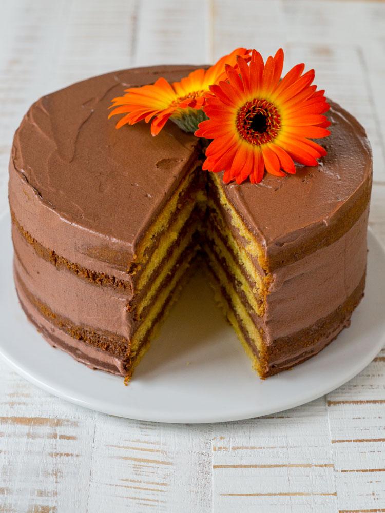 Schoko-Orangen-Torte - Naked Cake