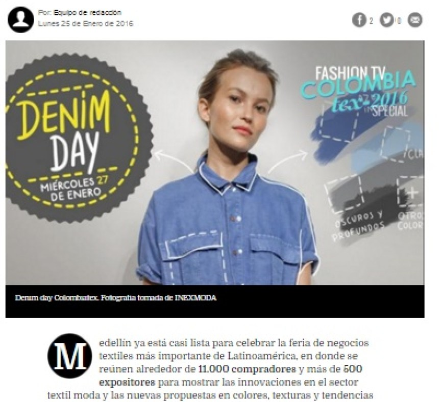 FASHION TV COLOMBIA - FASHIONTV LATINOAMERICA - DANIELASTYLING - BLOG DE MODA - COLOMBIATEX TEXTILES MODA DENIM DAY