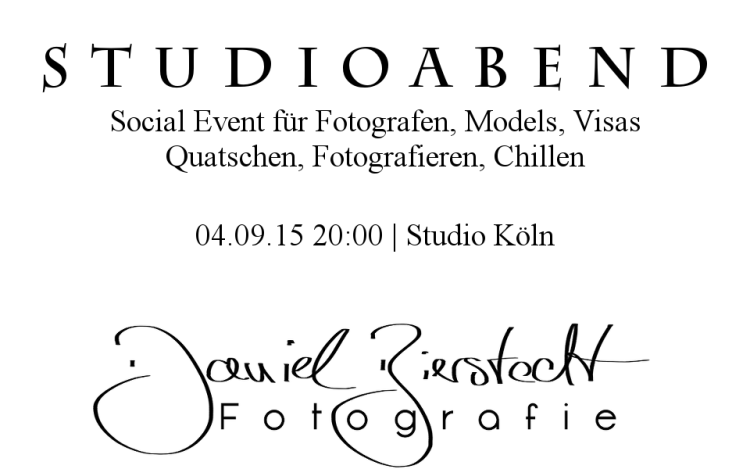 Studioabend Poster