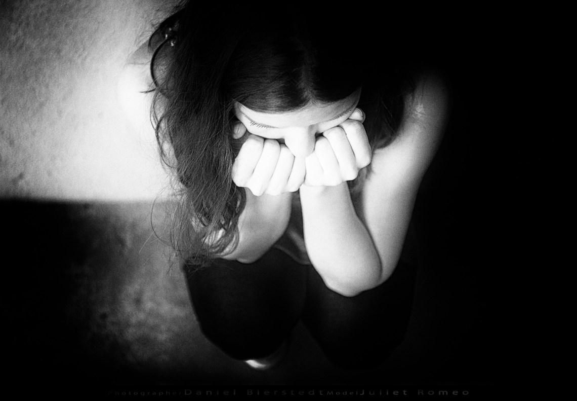 """Juliet Romeo bei der Workshop Aufgabe """"Traurig"""""""