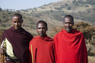 Maasai. warrriors are definitely not shy!