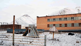 Pyramiden childrens playground
