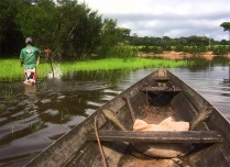fishing with the locals in canoe