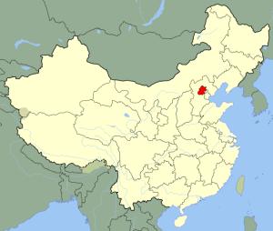 Mapa de China (en rojo Pekín)