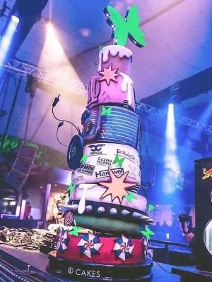 Gâteau d'anniversaire de dix année du club greenvalley - corporatif- Montréal - Québec - Corporate cakes ten years green valley