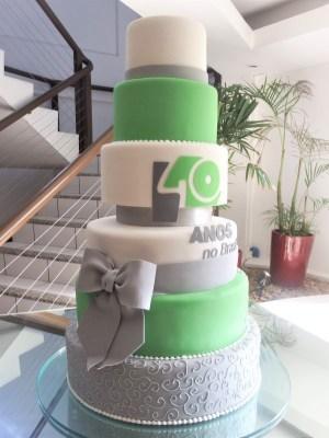 Gâteau- corporatif- Montréal - Québec - Corporate cakes 40 years