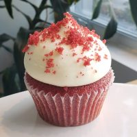 Cupcake Red velvet classique avec glaçage Fromage à la crème.