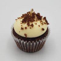 Cupcake au chocolat avec Glaçage fromage à la crème- chocolate cupcake with cream chease frosting